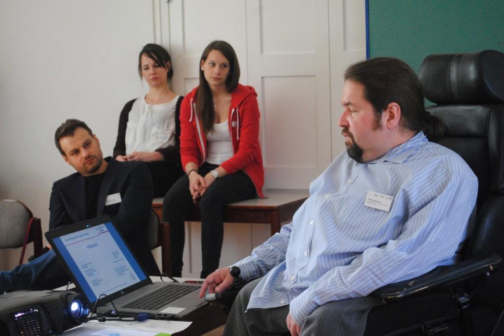 Thomas Bannasch, Sozialreferat München, stell den Aktionsplan München wird inklusiv vor