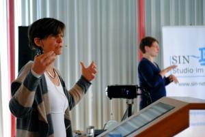 Isabel Zorn beim Vortrag zum Thema Inklusive Medienbildung